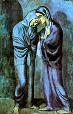 Pablo Picasso blue period, two sisters (the meeting)