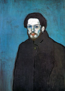 Pablo Picasso blue period, self portrait